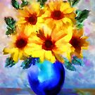 A vase of Sunflowers'... by Valerie Anne Kelly