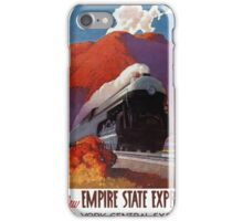 Empire State Express Vintage Poster Restored iPhone Case/Skin