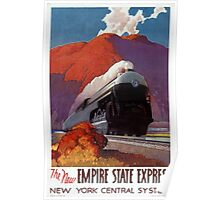 Empire State Express Vintage Poster Restored Poster