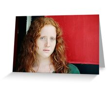 Melissa - Red On Red Greeting Card