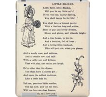 Miniature Under the Window Pictures & Rhymes for Children Kate Greenaway 1880 0031 Little Maiden iPad Case/Skin