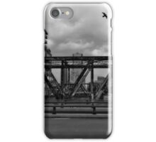 Black and White Bridge in Denver iPhone Case/Skin