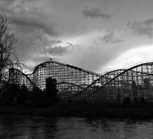 Roller coaster in Denver by Jackson Killion