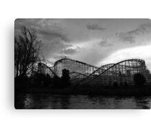 Roller coaster in Denver Canvas Print