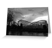 Roller coaster in Denver Greeting Card