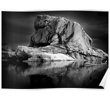 Sounds of Silence #1 - Glacier  (Jökulsárlón) Lagoon Iceland  Poster