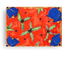 Holly and Bells Canvas Print