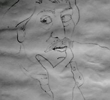 Sketch Of Paul Gauguin. by Richard  Tuvey