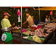 Chicken Stall Photographic Print
