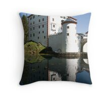 sneznik castle, Slovenia Throw Pillow