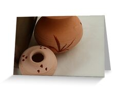 Pottery 2 Greeting Card