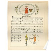 A Day in a Child's Life Myles Birket Foster and Kate Greenaway 1881 0028 Child's Prayer Poster