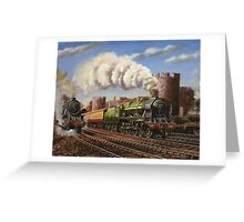 Welsh Coast Express Greeting Card