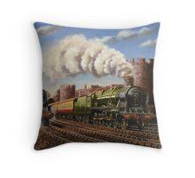 Welsh Coast Express Throw Pillow