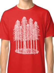 Coastal Redwoods Cathedral Ring Sketch - White Classic T-Shirt