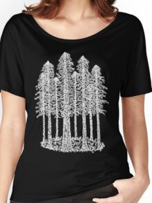 Coastal Redwoods Cathedral Ring Sketch - White Women's Relaxed Fit T-Shirt