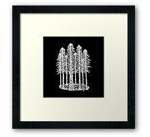 Coastal Redwoods Cathedral Ring Sketch - White Framed Print