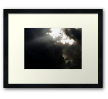 Clouds and the shining light Framed Print