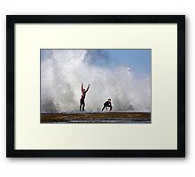 Playing with Water - Anglesea Victoria Framed Print