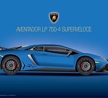 Blue - Aventador LP 750-4 Superveloce 2015 by Davrod
