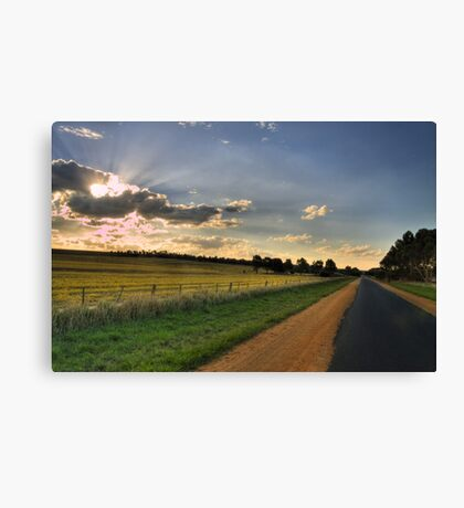 Playing with the clouds Canvas Print