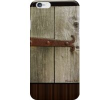 A Door on the Old Manse Boathouse iPhone Case/Skin