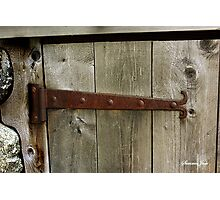 A Door on the Old Manse Boathouse Photographic Print