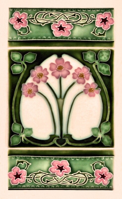 Art nouveau ceramic tiles