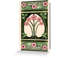 art nouveau ceramic Greeting Card