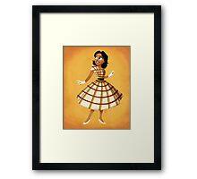 Girl of the Frontier Framed Print