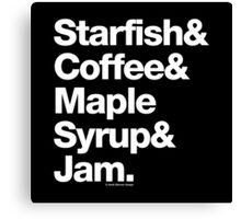 Starfish Coffee Helvetica Ampersand Prince T-Shirt & More Canvas Print