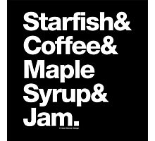 Starfish Coffee Helvetica Ampersand Prince T-Shirt & More Photographic Print