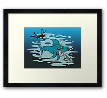 Disgusted Shark Framed Print