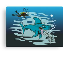 Disgusted Shark Canvas Print