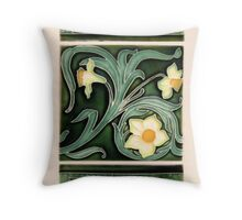 Ceramic Daffodils Throw Pillow