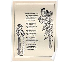 Miniature Under the Window Pictures & Rhymes for Children Kate Greenaway 1880 0046 The Village Walk Poster