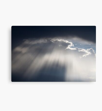 cloudy sky on the hilly Canvas Print