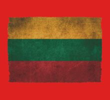 Old and Worn Distressed Vintage Flag of Lithuania Kids Clothes