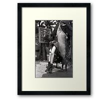 He stole her heart...amongst other things... Framed Print