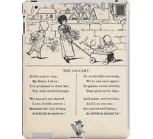 Miniature Under the Window Pictures & Rhymes for Children Kate Greenaway 1880 0008 The Go Cart iPad Case/Skin