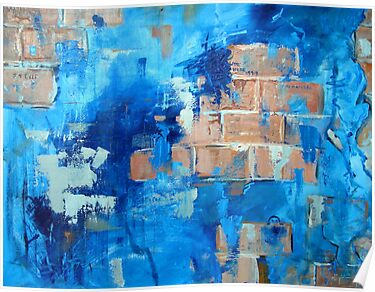 Behind the blue painted wall by Carole Russell