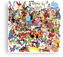 Disney Collage Metal Print