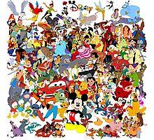 Disney Collage Photographic Print