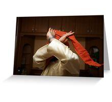 Tying a Turban Greeting Card