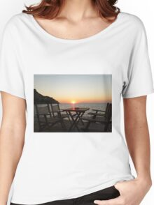 Sit down and enjoy the sunset! Women's Relaxed Fit T-Shirt