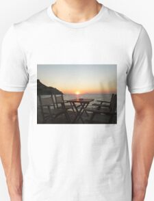 Sit down and enjoy the sunset! Unisex T-Shirt
