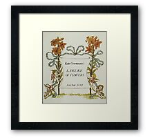 Language of Flowers Kate Greenaway 1884 0009 Title Plate 3 Framed Print