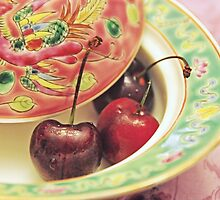 Peranakan pastels and cherries by IngeHG