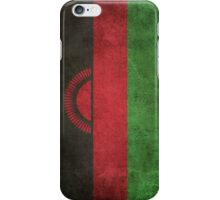 Old and Worn Distressed Vintage Flag of Malawi iPhone Case/Skin