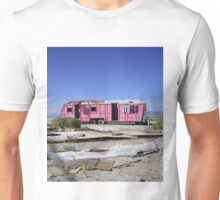 Where are the plastic flamingoes?  Unisex T-Shirt